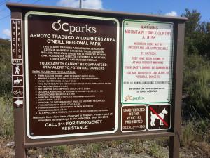 Arroya Trabuco welcome sign
