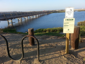 Bolsa Chica Parking Lot Eco Reserve sign post