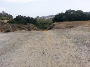 Descend down the trail